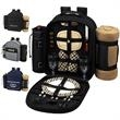Picnic Backpack for 2 with Cooler & Blanket - Fully equipped picnic backpack for two, with a large fleece picnic blanket.