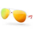 2-tone Aviator Sunglasses - 1 Temple Imprint + UV400 Mirror Lenses