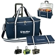 Collapsible Wheeled Cooler- Steel frame/Side Support-72 cans - Folding cooler with high density EPE foam insulation that's leak-proof and comes with removable wheeled cart