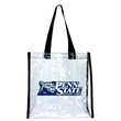 Clear Stadium Approved Tote Bag - Do your part to save the environment, and save on bag fees too. Imprint on our multi-use stadium clear tote bag. Our straps fit ov