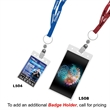 """3/8"""" Recycled Econo Lanyard - 3/8"""" x 36"""" lanyard made of recycled PET material with choice of attachments and a one color, one side imprint."""