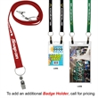 """3/4 inch Recycled Econo Dual Attachment Lanyard - 3/4"""" x 18"""" polyester lanyard with one attachment on each end; made of recyclable materials."""