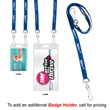 """3/8"""" Recycled Econo Dual Attachment Lanyard - 3/8"""" x 18"""" polyester lanyard with one attachment on each end; made of recyclable materials."""