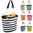"""Fashion Cooler Tote - 22 Can - Fully insulated, 600 denier polycanvas cooler tote that measures 15.5"""" x 6.5"""" x 13"""" with waterproof lining and inside pocket"""
