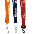 """3/4"""" Recycled Euro Soft Lanyard - 3/4"""" lanyard made of soft recycled PET material with attachment choice and customization."""