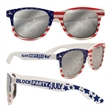 Patriotic Sunglasses - American-flag themed sunglasses made with 100% UV protection and shatter-resistant lenses