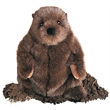 "Chuckwood Groundhog - 11"" stuffed plush brown groundhog"