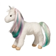 """Jules Princess Unicorn - 10"""" ultra-soft plush unicorn with white body, shimmering rainbow brushable mane and tail and a silver metallic horn"""