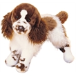 """Ogilvy Springer Spaniel - 16"""" stuffed plush Springer spaniel with brown and white fur, spotted legs and endearing face"""