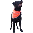 Pet triangle bandanna with reflective binding- Large - Colored muslin bandana pet triangle with a high thread count.