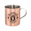 Tibacha Copper Plated Moscow Mule Mug - 12 oz. Tibacha Moscow Mule mug made of copper-plated stainless steel.