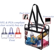 Clear Zipper Stadium Tote - Clear Zipper Stadium Tote