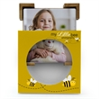 4 Piece Absorbent Coaster Set with Custom Gift Box - 4 piece coaster set with bamboo stand.