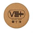 Cork'n Velvet Coaster - Round cork coaster with soft velvet bottom.