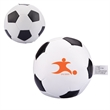 Soccer Pillow Ball - Soccer ball shaped pillow ball with vinyl exterior and soft polyester stuffing.