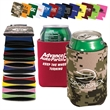 Folding Can Cooler Sleeve - Insulating can cooler sleeve that collapsible; made of polyester foam.