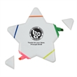 Star Highlighter - Star shaped plastic highlighter with a different ink color on each corner; 5 colors in all.