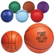 Basketball Stress Reliever - Basketball shaped stress reliever made of polyurethane foam; customization included.