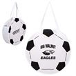 "RallyTotes™ Soccer Tote - Soccer ball shaped tote bag with 28"" handles and ultra-durable, recyclable 80 GSM polypropylene construction."