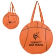 """RallyTotes™ Basketball Tote - Basketball shaped tote bag with 28"""" handles and ultra-durable, recyclable 80 GSM polypropylene construction."""