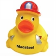 Fireman Rubber Duck - Rubber duck with hat and hose like a fireman.