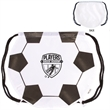 GameTime!® Soccer Drawstring Backpack - Soccer themed drawstring backpack with adjustable soft black nylon shoulder strap that doubles as a drawstring closure.
