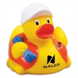 Construction Worker Rubber Duck - Construction worker rubber duck with helmet and safety vest design.