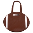 """RallyTotes™ Football Tote - Football shaped tote bag with 28"""" handles and ultra-durable, recyclable 80 GSM polypropylene construction."""