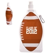 HydroPouch!™22 oz. Football Collapsible Water Bottle - 22 oz. football shaped collapsible water bottle with spray-top spout.