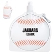 HydroPouch! 24 oz. Baseball Collapsible Water Bottle - 24 oz. baseball shaped collapsible water bottle with spray-top spout.