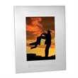 """4"""" x 6"""" Aluminum Picture Frame - 4"""" x 6"""" aluminum picture frame with hinged easel that allows for vertical or horizontal orientation."""