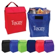 Budget Lunch Cooler - Insulated lunch bag with pocket, PEVA lining and carry handle.