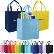 "Atlas Non-Woven Grocery Tote - Non-woven grocery tote bag with 20"" long reinforced handles and 8"" box gusset."