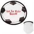 "Soccer Flexible Flyer - 10"" flexible flying saucer with soccer ball design."