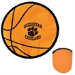 """Basketball Flexible Flyer - 10"""" flexible flying saucer with basketball design and matching case."""