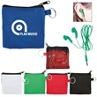 Earbuds in Zip Pouch - In-ear headphones in small zippered pouch