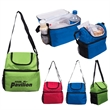 Duo Compartment Lunch Pail - Dual-compartment lunch pail made of 210 denier polyester