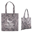 Digital Camouflage RPET Value Tote - Tote bag made of recycled PET, featuring a digital camouflage stock art design.