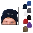 Knit Beanie - One size fits most acrylic knit beanie, offered in multiple colors with customization.