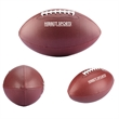 Full Size Synthetic Promotional Football - Full-sized synthetic leather promotional football with rubber bladder, four panels and white lacing.