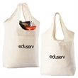 Cotton Canvas Grocery Tote - Reusable grocery bag made of cotton canvas