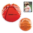 Hot/Cold Gel Pack - Sport Shapes - Basketball - Basketball themed aqua bead gel therapy hot/cold pack for temporary muscle ache relief.