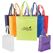 """Heat Sealed Non-Woven Value Tote with Gusset - Nonwoven tote bag with gusset, 20"""" handles and PE foam laminated with aluminum foil."""