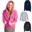 Gildan® Heavy Blend™ Ladies Full Zip Hooded Sweatshirt - Ladies' full zip hooded sweatshirt made of 50/50 cotton/polyester blend pre-shrunk fleece knit.