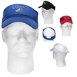 Budget Visor - Brushed 100% cotton twill visor with pre-curved visor, interior sweatband and hook and loop fastener type adhesive tab closure.