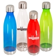 24 oz. Pastime Tritan™ Water Bottle - 24 oz. water bottle with screw-on stainless steel lid and base.