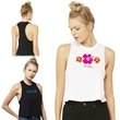 Bella+Canvas® Women's Racerback Cropped Tank - Cropped tank top made of 52% combed ringspun cotton/48% polyester with racerback and elongated armholes