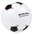 "14"" Soccer Beach Ball - Inflatable beach ball designed to look like a soccer ball, 14""."