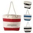 Cotton Resort Tote with Rope Handle - Large 15.5 oz. Cotton Canvas beach tote.
