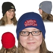 """Knit Beanie with Cuff - 8.25"""" W x 11"""" H rib knit beanie with cuff made from 100% acrylic that stretches to fit most adult head sizes"""
